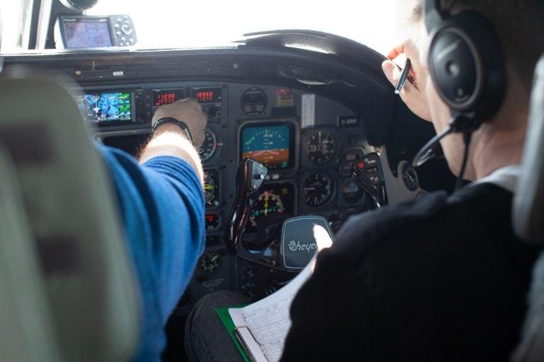 Co-Pilot bei einem Charter Flug
